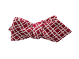 Red Check Cotton Bow Tie - Fine and Dandy