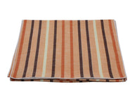 Orange Striped Silk/Linen Blend Scarf - Fine And Dandy