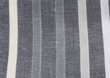 Grey Striped Silk/Linen Blend Scarf - Fine And Dandy