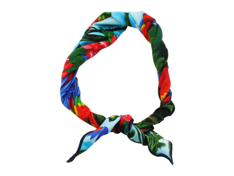 Tropical Print Cotton Neckerchief - Fine And Dandy