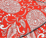Orange Floral Cotton Neckerchief - Fine And Dandy