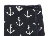Black Anchors Cotton Pocket Square - Fine And Dandy