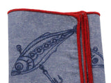 Fishing Tackle Chambray Pocket Square - Fine And Dandy