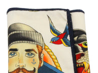 Retro Sailor Tattoos Cotton Pocket Square - Fine And Dandy
