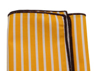 Golden Striped Cotton Pocket Square - Fine And Dandy