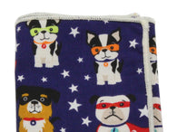 Super Dogs Cotton Pocket Square - Fine And Dandy