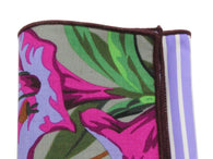 Purple Floral Panelled Pocket Square - Fine And Dandy