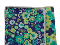 Green Floral Panelled Pocket Square - Fine And Dandy