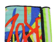 Neon Graffiti Panelled Pocket Square - Fine And Dandy