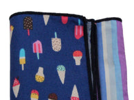 Ice Cream Panelled Pocket Square - Fine And Dandy