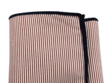 Red Striped Cotton Pocket Square - Fine And Dandy