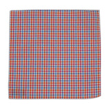 Peach Gingham Cotton Pocket Square - Fine And Dandy