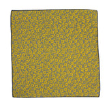 Yellow Floral Cotton Pocket Square - Fine And Dandy