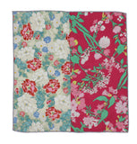 Red Floral Panelled Pocket Square - Fine And Dandy
