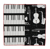 Musical Instruments Panelled Pocket Square - Fine And Dandy