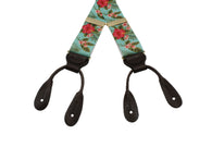 Tropical Floral Grosgrain Suspenders - Fine And Dandy