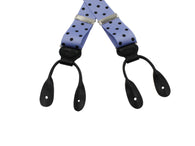 Lavender Polka Dot Grosgrain Suspenders - Fine And Dandy