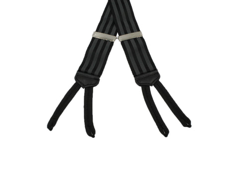 Black Striped Suspenders - Fine And Dandy