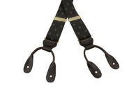 Brown Diamond Elastic Suspenders - Fine And Dandy