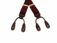 Burgundy Diamond Elastic Suspenders
