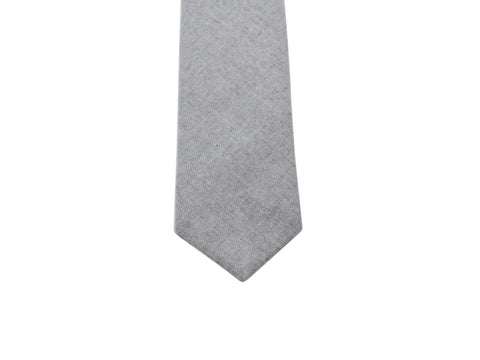 Grey Wool Tie - Fine And Dandy