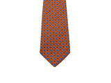 Orange Medallion Silk Tie - Fine And Dandy
