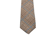 Brown Glen Plaid Linen Tie - Fine And Dandy