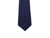 Navy Medallion Silk Tie - Fine And Dandy