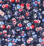 Navy Floral Cotton Tie - Fine And Dandy