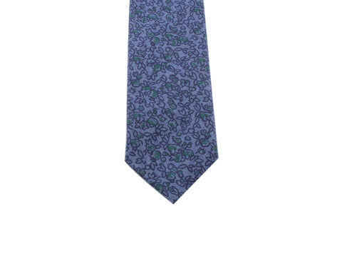 Floral Chambray Tie - Fine And Dandy