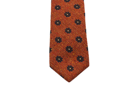Orange Florette Wool Tie - Fine and Dandy