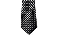 Black Grid Stamped Silk Tie - Fine And Dandy
