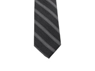 Charcoal Striped Wool Blend Tie - Fine And Dandy