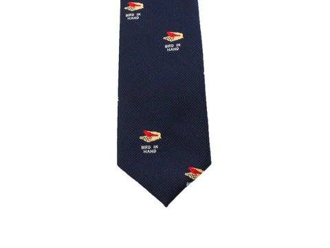 "Blue ""Bird In Hand"" Silk Tie - Fine And Dandy"