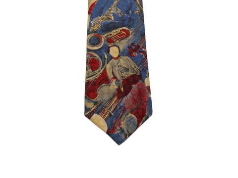 Jazz Band Silk Tie - Fine And Dandy