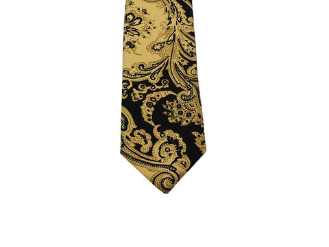 Black Persian Silk Tie - Fine And Dandy