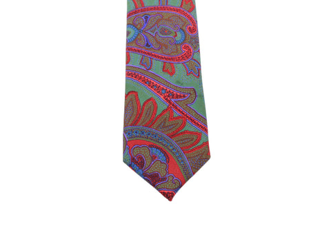 Electric Paisley Silk Tie - Fine And Dandy