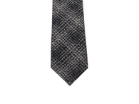 Navy Shadow Plaid Silk Tie - Fine And Dandy