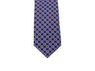 Navy Links Silk Tie - Fine And Dandy