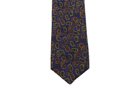 Navy Paisley Silk Tie - Fine And Dandy