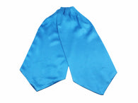 Turquoise Silk Ascot - Fine And Dandy