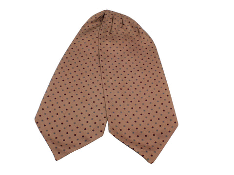 Tan Florette Silk Ascot - Fine And Dandy