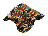 Ikat Patterned Cotton Blanket Scarf