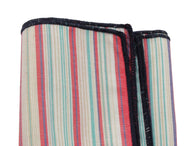 Salmon Striped Cotton Pocket Square - Fine And Dandy