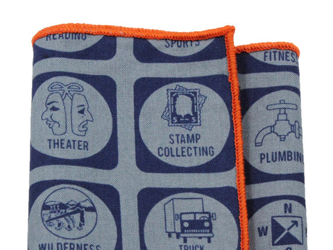 Boy Scout Badges Cotton Pocket Square - Fine And Dandy