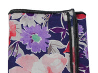 Purple Floral Cotton Pocket Square - Fine And Dandy