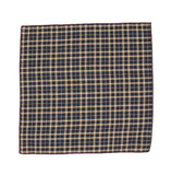 Navy Check Cotton Pocket Square - Fine and Dandy