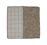 Windowpane & Herringbone Panelled Pocket Square - Fine And Dandy