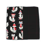 Winter Fox Cotton Panelled Pocket Square - Fine And Dandy