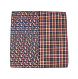 Check & Floral Cotton Pocket Square - Fine And Dandy